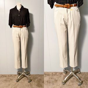 Oat High Waisted Trouser Pant with Fox | Vintage